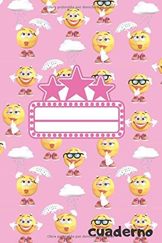Cuaderno emoji: Diario de papel rayado, Bloc de notas 120 páginas