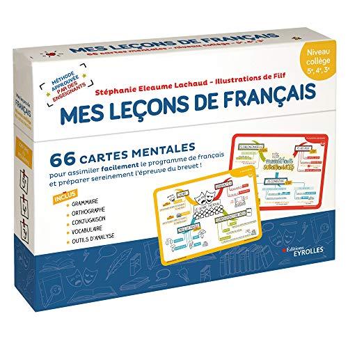 Français collège Mes leçons de Français : 66 cartes mentales pour assimiler facilement le programme de français et préparer sereinement l'épreuve du brevet