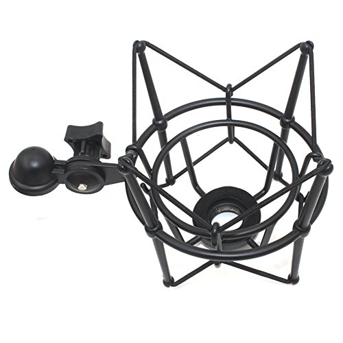 Weymic Wms-1 Black Universal Microphone Shock Mount for B-Spark Mic, Atr2500-usb,Metal Construction with Stand Arm Adapter