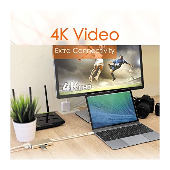 j5create USB C Hub Multi-Adapter Docking Station with HDMI 4K, 2X USB 3.1 SuperSpeed Ports, Ethernet, Power Delivery 2.0 5 The perfect accessory for your MacBook, Chromebook or other laptop with a USB Type-C port. It lets you easily backwards connect your USB Type-C computer to USB 3.0, USB 2.0, HDMI and RJ-45 devices. USB 3.0 SuperSpeed Ports: 2 USB 3.0 SuperSpeed ports, backwards compatible with USB 2.0 and USB 1.1 devices。 Note: Currently not compatible with macOS 11 Big Sur. To avoid any loss of functionality, we strongly advise all Mac users to delay updating to MacOS Big Sur 11 for the time being Get extra connectivity from your computer with 5Gbps fast transfer speeds. Add an additional USB computer peripheral, HDMI Monitor or Gigabit LAN through your USB Type-C port. (note: LAN usage requires download of a free driver)Bullet Point