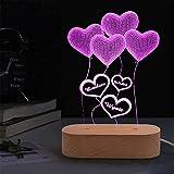 Alfabeto Luces Nombre Lámpara Luz Personalizada 7 Colores De Luz Luz 3D Luz Acrílica Con 7 Corazones 3 Nombre Luz Familiar Habitación Dormitorio Decoración Luz Regalo Personalizado