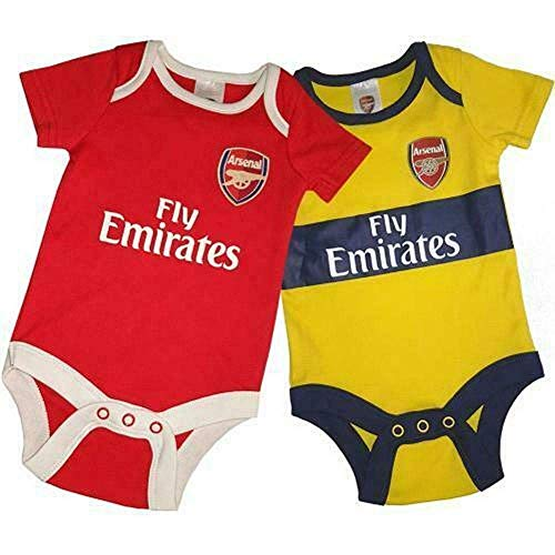 Arsenal FC 2 Pack Bodysuit Baby Vest YL - 2019/20 Ontwerp