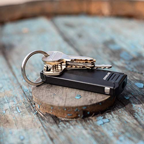 Lever Gear BitVault - Keychain Carry Case & Compact EDC Screwdriver. Waterproof Capsule Clips to Keychain, Belt or Pockets - Black