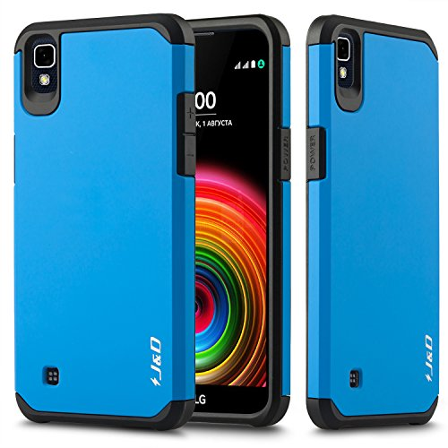 JundD LG X Power Hülle, [ArmorBox] [Doppelschicht] [Heavy-Duty-Schutz] Hybrid Stoßfest Schutzhülle für LG X Power - Blau