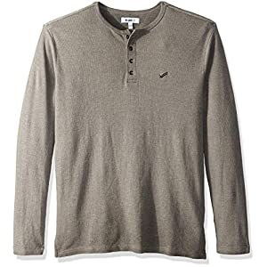 Men's Booker Long Sleeve Henley Tee with Brand Logo