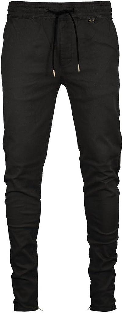 Kayden K Men's Tapered Zipper Pants Max 74% OFF Jogger Super-cheap Ankle