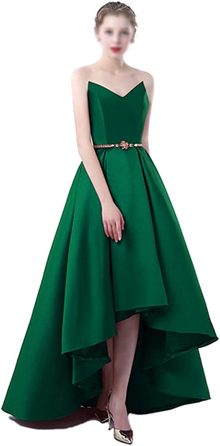 CEFULTY Womens Formal VNeck Evening Dress Birthday Party Dress (color   Green, Size   US10)
