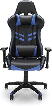Essentials by OFM Racing-Style High-Back Bonded Leather Gaming Chair