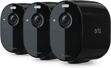 Arlo Essential Spotlight 3 Home Security Camera System CCTV, Wi-Fi, 1080p, Colour Night Vision, 2-Way Audio, 6-Month Batte...