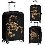 Scorpion Luggage Suitcase Cover Protector Decor Scorpio Zodiac Gift Item (Large)