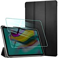 AROYI Funda para Samsung Galaxy Tab S5e 10.5 T720/T725 Carcasa Silicona Smart Cover con Soporte Función, Auto-Sueño/Estela + Protector Pantalla para Samsung Galaxy Tab S5e 10.5 T720/T725