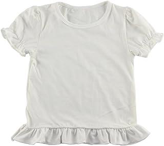 Wennikids Baby Girls' Cotton Ruffle Short Sleeve Top T-Shirt 1-5T