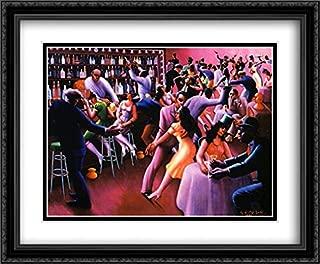 Nightlife 2X Matted 34x28 Large Black Ornate Framed Art Print by Archibald J Motley, Jr