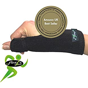 Thumb Support (SINGLE) Metal Spica Splint NON-SWEAT by 4Dflexisport - the ultimate in hypoallergenic non-rash comfort. Reversible left or right one-easy-size fit. UNISEX.:Priorcastleinnvictoria