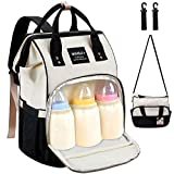Diaper Bag Backpack - MOSFiATA Multifuctional Waterproof Baby Diaper Travel Backpack, Large Capacity Maternity Nappy Bag Changing Bag with Stroller Straps for Mom and Dad