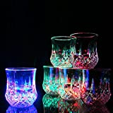 Bar Glasses Funny, Water Activated Colorful Flashing LED Light Up Shot Glasses Blinking Beer Wine Whisky Vodka Martini Drinkware Glow Glasses Mugs for Bar Club Christmas Party Supplies - 3 Pcs