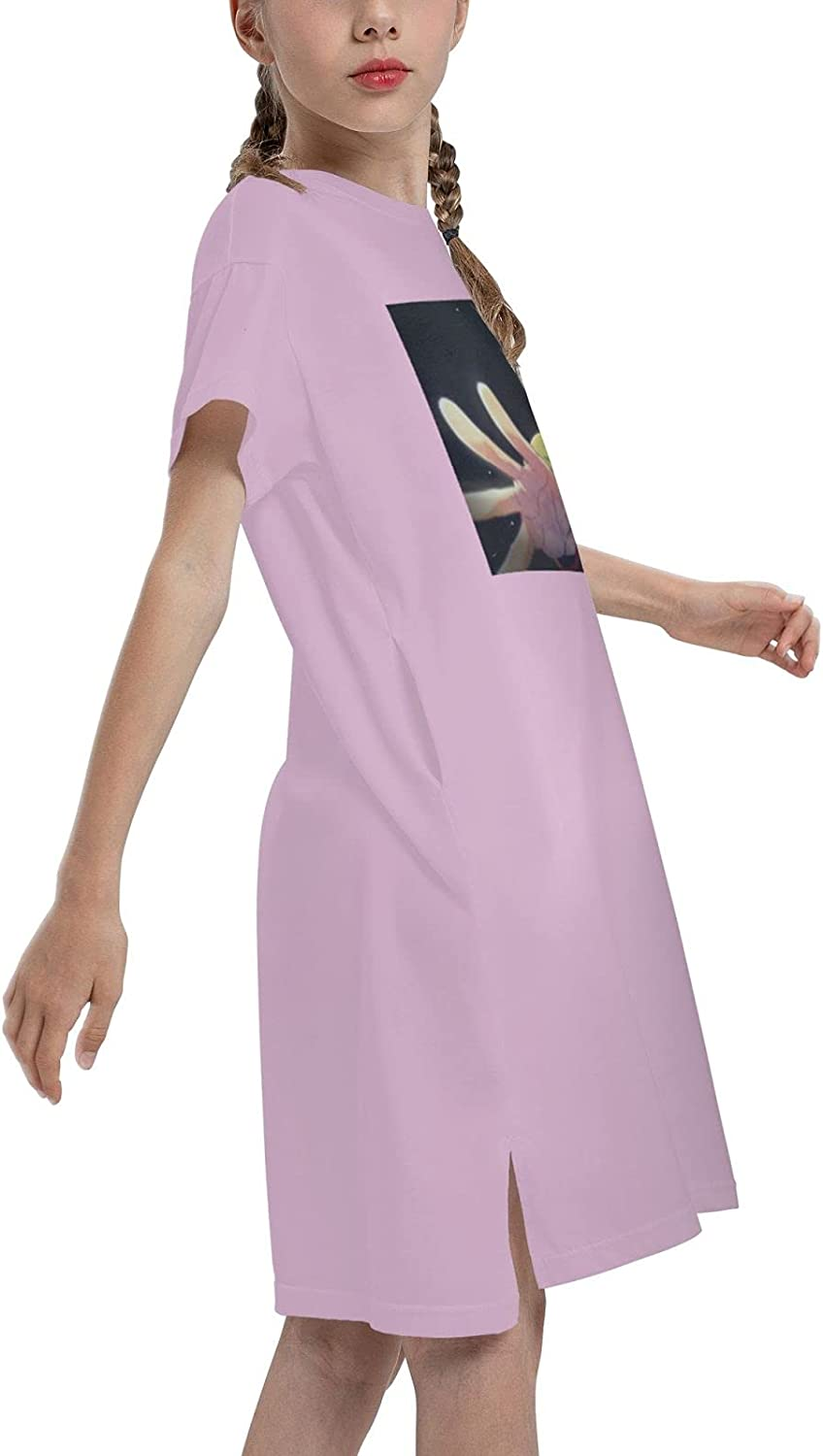 Hunter X Hunte Gon·Freecss Girls Short Sleeve Dress Casual Swing Twirl Skirt for Holiday Theme Party 7-12 Years