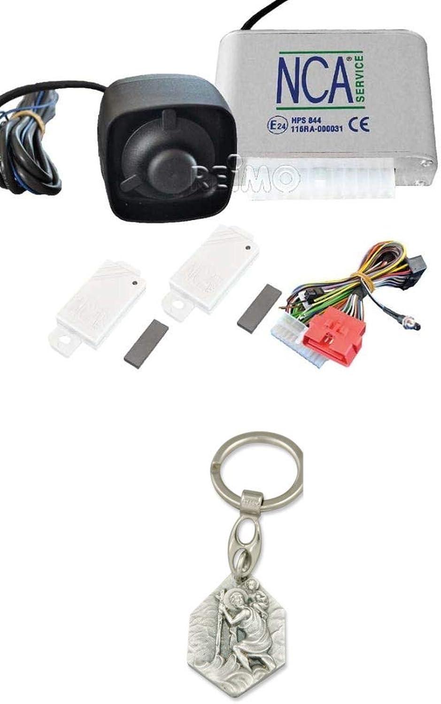 Zisa-Kombi Alarmanl. CAN Bus HPS844 inkl 4X Funksender, Sirene, univ. Verkabelung (93298847443) mit Anhnger Hlg. Christophorus