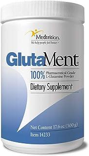Pure pharma Grade L-Glutamine Powder 10 Gram Scoop 50 Serving jar  GlutaMent 