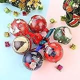 ZHANGXJ Decor Xmas 6 Pezzi di Decorazione Dell'albero di Natale Regalo di Caramella di Gara di Apertura Christmas Box per Bambini Piccolo Regalo 7cm Palline di Natale .Regalo
