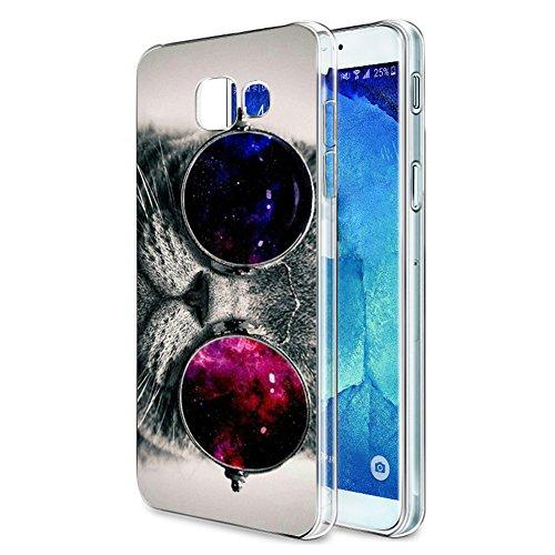 Funda Samsung Galaxy A5 2017, Eouine Cárcasa Silicona 3D Transparente con Dibujos Diseño Suave Gel TPU [Antigolpes] de Protector Bumper Case Cover Fundas para Movil Samsung Galaxy A5 2017 (Gato)