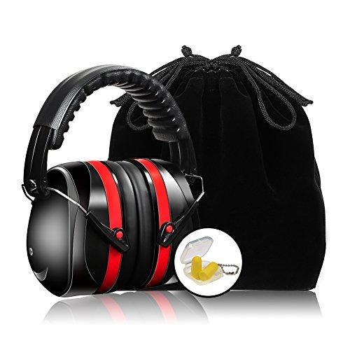 Cuffie Antirumore Otoprotettore Cuffie Auricolare Temporale Cuffie di Protezione, Protezione dell udito, Protezione per le orecchie, NRR 35dB, fascia pieghevole regolabile, portatile e confortevole