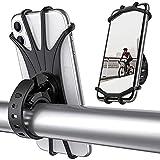 Soporte movil Bicicleta | Soporte movil Moto con rotación 360 | Soporte móvil Patinete Universal antivibración | Manillar de Silicona para iPhone, Samsung Galaxy, Huawei, Smartphones