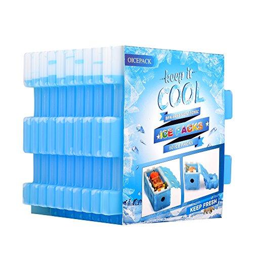 OICEPACK paquete de hielo para nevera (juego de 10) paquete de hielo para lonchera de...
