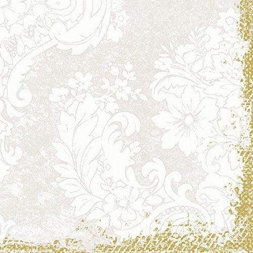 Duni Dunilin-Servietten 1/4 Falz 40 x 40 cm Royal White, 50 Stück