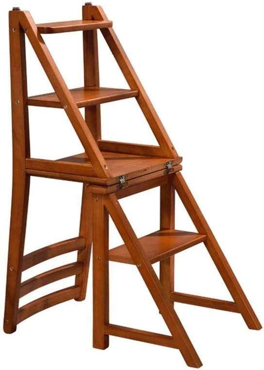 DIAOD Time sale Step Ladder Natural Convertible Clearance SALE! Limited time! Fold Wood Multi-Functional