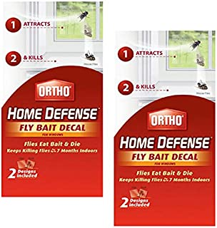 Ortho Home Defense Fly Killer Window Decal, 4 Pack