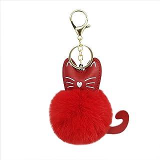 YUnnuopromi Lovely Cat en Haut Talon Strass Porte-cl/és D/écor Sac /à Main Sac Pendentif Violet