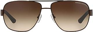 نظارات شمسية بعدسات مستطيلة الشكل للرجال من ايه|اكس باطار معدني، موديل Ax2012s