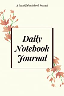daily notebook journal flourished: a beautiful notebook journal whith interior content in color for woman & girls / 120 pa...