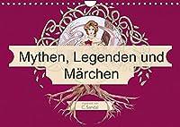 Mythen, Legenden und Maerchen (Wandkalender 2022 DIN A4 quer): Jugendstil inspirierte Aquarelle (Monatskalender, 14 Seiten )