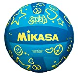 Mikasa D47 Waterproof Camp Volleyball , Blue/Yellow