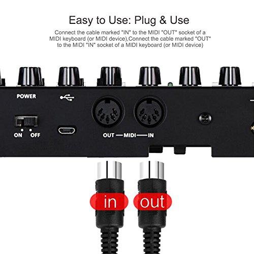 59-Zoll-USB-Kabel Zubehör für elektronische Musik Universeller MIDI-zu-USB-Kabelkonverter, MIDI-USB-Kabel, für elektronische Tastatur-Cakewalk-Cubase-E-Gitarre