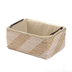 KINGWILLOW Woven tan Storage Basket