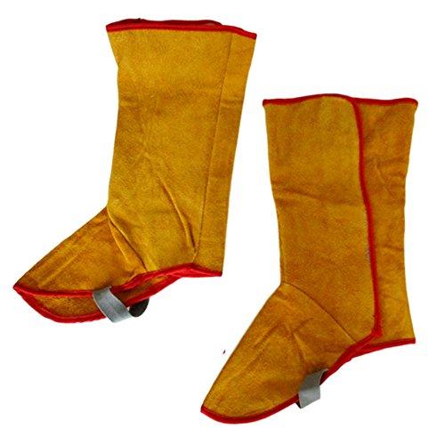 牛革 溶接用 足カバー 靴 防炎 溶接 防護服 やけど 対策 耐熱 火の粉