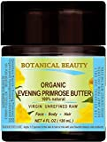 ORGANIC PRIMROSE OIL BUTTER. 100% Natural/RAW/VIRGIN/UNREFINED. 4 Fl oz - 120 ml. for FACE, BODY, HANDS, FEET, NAILS & HAIR and LIP CARE.