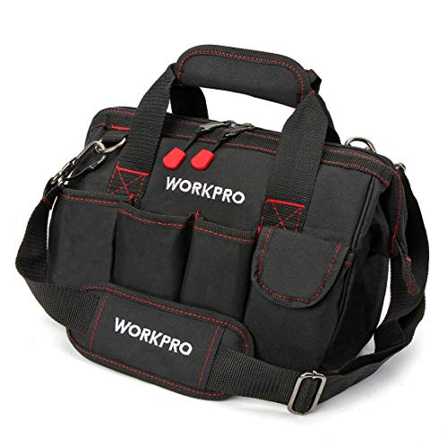 Workpro 12-inch Close Top Wide Mouth Storage Tool Bag, W081020A Maine