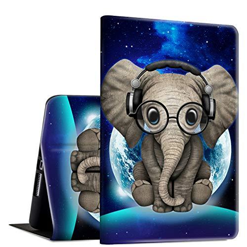 iPad Mini 3/2/1 Case, Rossy PU Leather Folio Smart Cover TPU Shock Protection Case with Adjustable Stand & Auto Wake/Sleep Feature for Apple iPad Mini 1/Mini 2/Mini 3,Cute Elephant