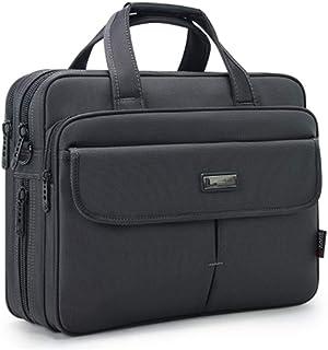 Business Office Bag,15.6 Inch Laptop Briefcase,Stylish Nylon Multi-Functional Shoulder Messenger Bag for Notebook Computer Gray Laptop Bag