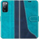 Mulbess Handyhülle für Samsung Galaxy S20 FE Hülle, Samsung S20 FE Hülle Leder, Etui Flip Handytasche Schutzhülle für Samsung Galaxy S20 FE 5G / S20 Lite Hülle, Mint Blau