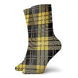 Haus-Socken mit Schottenkaro-Muster, 30 cm, geeignet für Männer und Frauen
