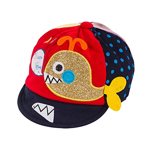 Demarkt Baby Baseball Kappen Baseball Mütze Baseball Hut Baseball Cap Kopfumfang von 43cm für 0-5 Monate Baby aus Baumwolle Rot