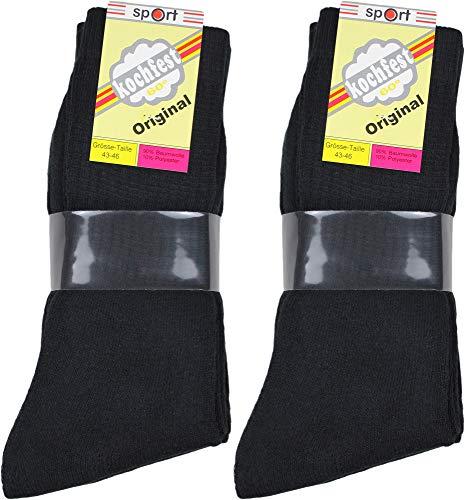 Pagel Strumpfimporte 10 Paar Herren Tennis Socken schwarz/grau/weiß/farbig (39/42, schwarz)