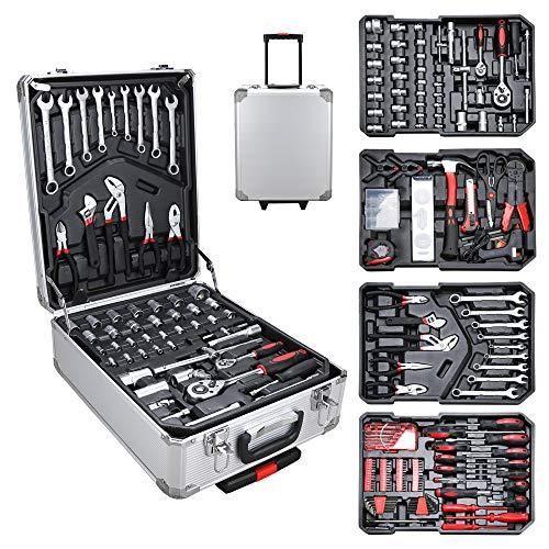 BMOT Werkzeugkoffer Werkzeug Trolley Werkzeugkiste Werkzeugkasten Heimwerker Werkzeugset 1031-teilig