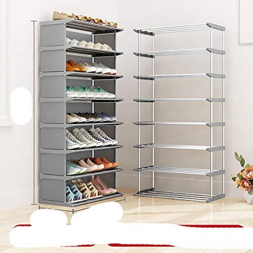 Zapato multicapa para el hogar, almacenamiento que ahorra espacio, almacenamiento econ¨mico a prueba de st, zapatero, zapato, rojo rosado