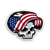 USA American Flag Welder Skull Sticker Hard Hat Toolbox Decal Vinyl Car Cup Cooler Window Bumper Graphic